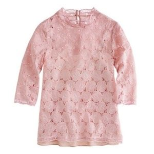 J. Crew Collection Lustre Lace Mockneck Top